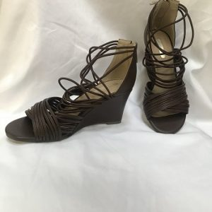 LADIES BROWN WEDGES MARK WEDGES