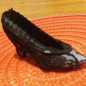 Black Lace Cinderilla Shoe
