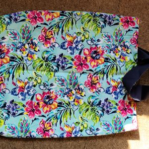 Bright Flower Hand made fabric Tote