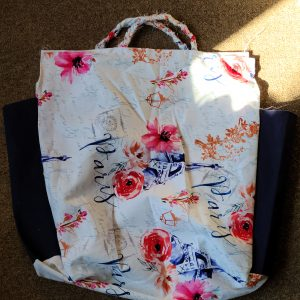 """Paris"" Hand Made Fabric Shopping Tote"