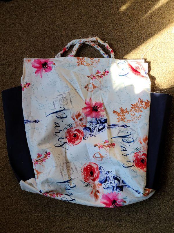 """Paris"" Hand Made Fabric Shopping Tote"